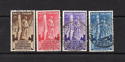 Italy 1933 University Games Stamps - Sg 380-383 Good Used High Cat Value £9