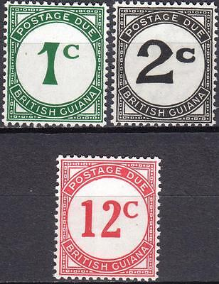 British Guiana, 1940 Postage Dues, SG D1a, D2a & D4a, Mint Never Hinged, Cat £28