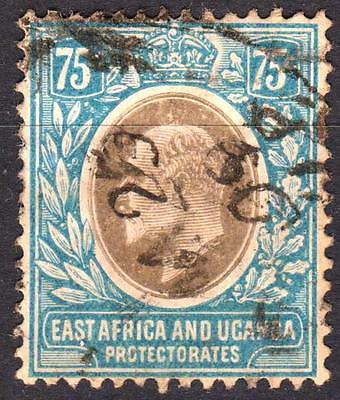 KUT 1907 75 cents Grey & Pale Blue, SG 42, used, Cat £45