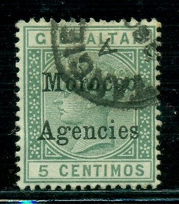 "Great Britain & Area Selections - MOROCCO: Scott #12 U 5c Green (SP) NARROW ""M"""