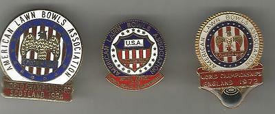 3 U.s.a. World Championship Badges From 1972,  1976, And 1984.