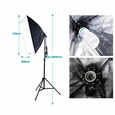 New Photography Studio 135W Soft Box Continuous Lighting Softbox Light Stand Set