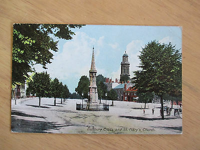 Postcard of Banbury Cross & St. Mary's Church. Postmarked Banbury 1913.