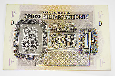 1943 British Millitary Authority 1 Shilling Very Nice Banknote