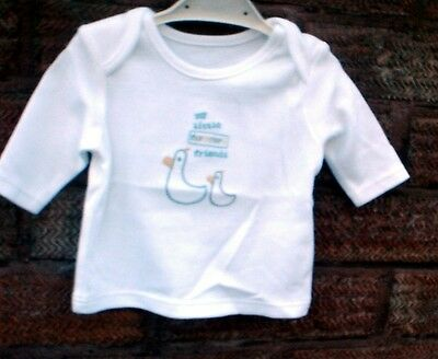BOYS LONG SLEEVED T SHIRT TOP   1 month  BRAND NEW