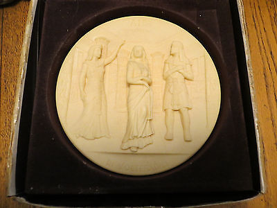 Barber of Seville Opera 3D Ivory Alabaster Gino Ruggeri Italy Hand Carved Plate