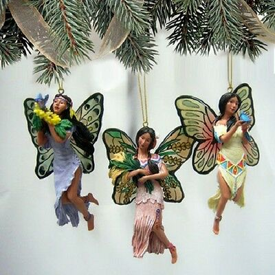 Spirit of the Butterfly Fairy Ornaments issue #15 Native Fairy Bradford Exchange