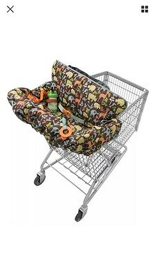 New Infantino Compact 2 in 1 Shopping Cart Chair High Cover 2 Toy Loops Teether