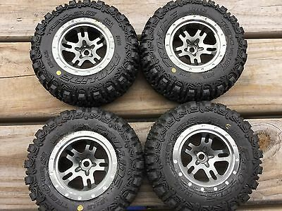 Traxxas Slash Stampede 4x4 Alloy SCT Wheel Rim On Pro-Line Racing Trencher Tyre