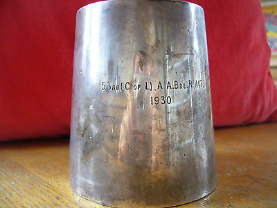 Army small Tankard - Engraved City of London T.A Regiment
