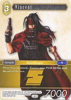 Vincent  - 1-202S STARTER - NM - Final Fantasy TCG - OPUS 1