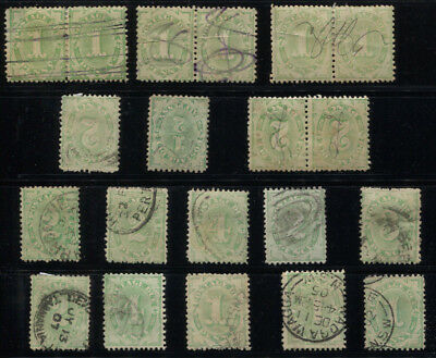 Australia 1902 - 1904 Postage Dues Between SG #D22/D26 Including Inv Wmk £151