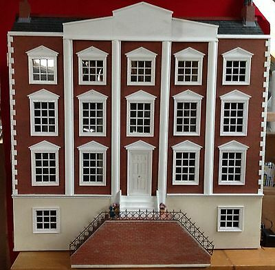 Fabulous Large Georgian Dolls House Fully Furnished With Lighting, Heirloom