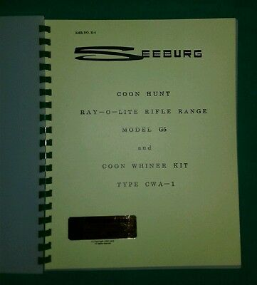 SEEBURG COON HUNT RIFLE ARCADE MACHINE MANUAL W/ SCHEMATIC lot#16