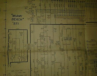 BALLY MIAMI BEACH BINGO PINBALL MACHINE SCHEMATIC 1955 lot#46