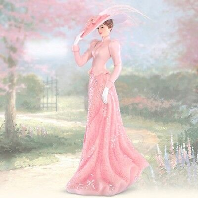 Thomas Kinkade Inspirations of Hope Faithful to Pink- Hope Figurine