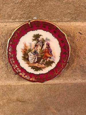 2x Small Limoges Plate China Porcelain 3inch Antique