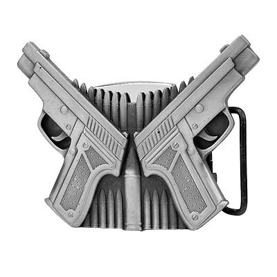 Double Gun Removable Lighter Belt Buckle Weapon Pistol