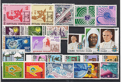 Range of Africa MNH Hi Cat Value 4 x Scans