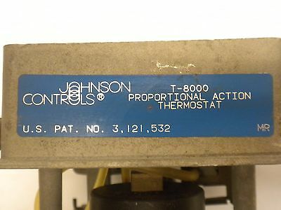 Johnson Controls Proportional Action Thermostat (T-8003)