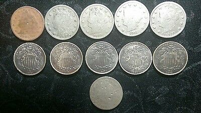 Shield and V Nickel Lot! Great Finds!