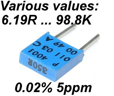 0.02% 5ppm 0.5W Very High Precision Vishay SFERNICE Foil resistor VARIOUS VALUES