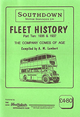 Southdown 1936-37 Fleet History Part 10 Coming Of Age  - Excellent Condition