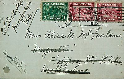 Cover:1915 Panama Pacific Exposition.to Australia.tied With Expo Machine Cancel