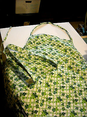 Longaberger St Pattys Day Collection Apron and Tote