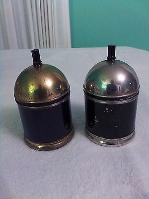 Chase Cannisters - Small, Tobacco - One Chrome, One Brass