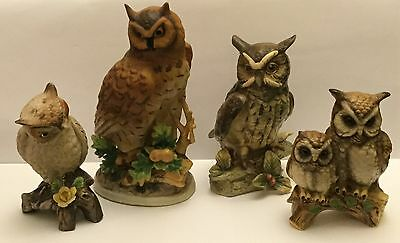 Collection of Ceramic Owls (4).