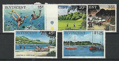 St Vincent Qe11 1975 Tourism Set Mint