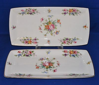 A PAIR of 'MINTON' PORCELAIN OBLONG DISH'S in the 'MARLOW' PATTERN
