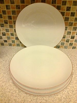 Thomas Germany Red Line Rim 4 X Dinner Plates 10 & 3/8Th Inches Across