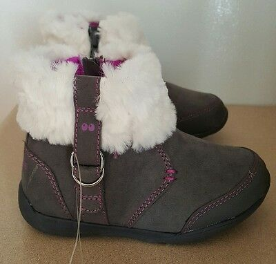 New Toddler Girls' Surprize by Stride Rite Delrae Gray Fashion Boots