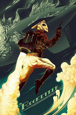 MONDO The Rocketeer By Kevin Tong Ltd. Edition Poster Print