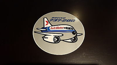 Pacific Western - Boeing 737-200 Round Decal.