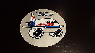Pacific Western - Boeing 767 Round Decal.