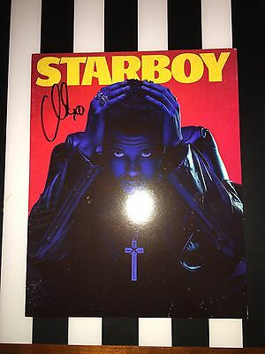 THE WEEKND ABEL TESFAYE SIGNED AUTOGRAPH STARBOY AUTHENTIC 8x10 PHOTO RARE CD