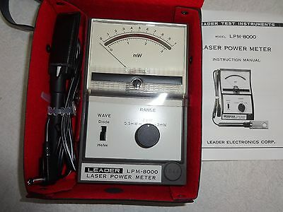 Leader Electronics Laser Power Meter, Lpm-8000, Mint, Complete, Tested & Working