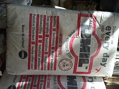 Australian Hydrated Builders Pure Lilydale Slaked Lime 25kg Bag