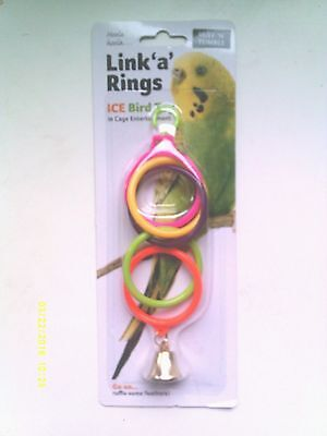 Ruff 'n' Tumble Link 'a' Rings Bird Toy With Bell - Suitable For All Small Birds