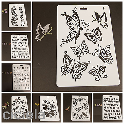 Creative Children Plastic Picture Drawing Template Stencils Painting Kids DIY