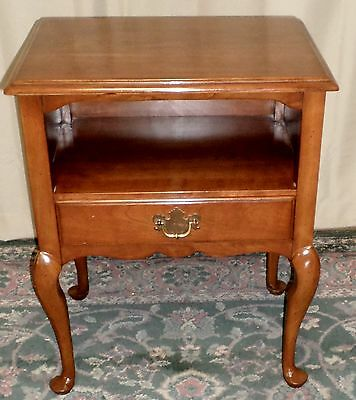 STATTON CHERRY NIGHTSTAND Antique Oxford Bedside Table With Drawer VINTAGE