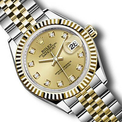 Rolex Brand New Datejust 279173 Champagne Dial Lady Watch Two Tone Gold/Steel