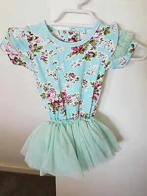 Baby girls rock your baby blue maeve dress size 18-24 months