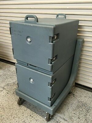 Cambro Insulated Transport Food Carrier 1826MTC #5151 Double & Cart NSF Catering