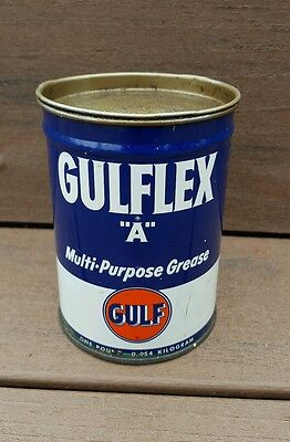 "☆ Vintage ☆ Gulf Gulflex ""A"" Multi-Purpose Grease 1 Pound Can ☆"