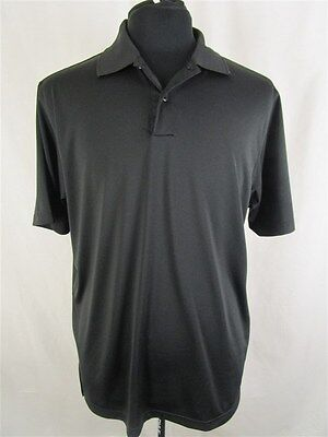 Adidas Men's sz M Black ClimaLite Polyester Athletic Polo Shirt
