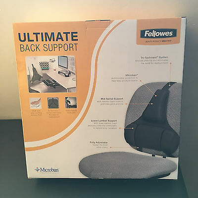 NEW (1) Fellowes Ultimate Back Support Make with Ultra Soothing Memory Foam